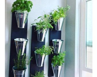 Indoor Wall Planter  (one row 3 pots)