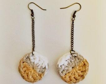 Gold & Grey Ombre Earrings