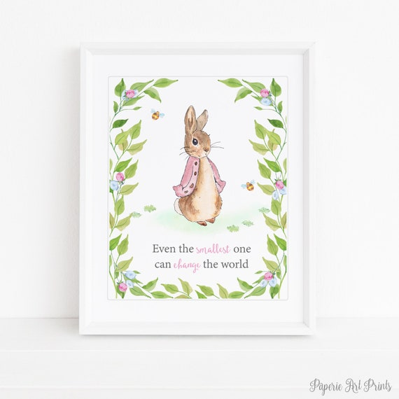 4  x PETER RABBIT NURSERY QUOTE PRINTS AVAILABLE IN 3 SIZES NEW UNFRAMED