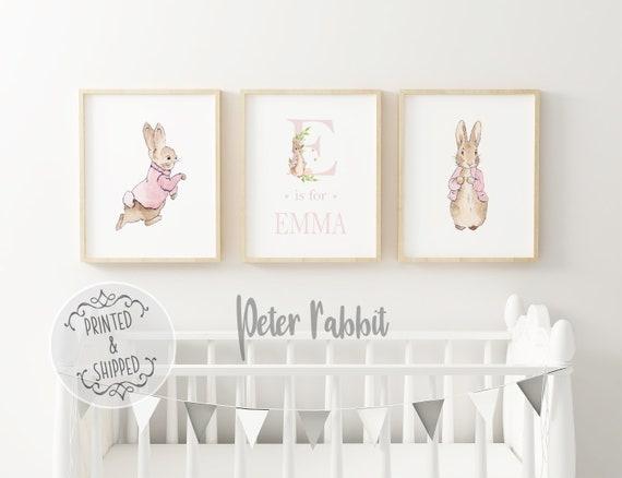 Bunny Room Baby Boy Peter Rabbit Beatrix Potter Nursery Decor Art Print Set