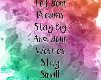 Printable Dreams Quote Digital Download