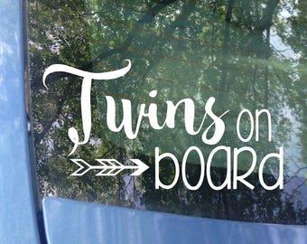 4a3faf502fe Twins on board Window Decal