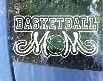 Basketball Mom Decal - Sports Mom - Basketball Mom Window Decal - Basketball Mom Car Decal - Sports Mom Decal - Mom Gift - Hoops Mom - Ball