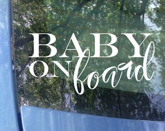 Baby on board Decal | Car Decal | Window Decal | New Baby | Baby Shower Gift | Baby on board Sticker | Window Decal | Babies on Board Sign