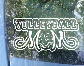 Volleyball Mom Decal | Sports Mom | Volleyball Decal | Volleyball Window Decal | Volleyball Mom | Sports Mom | Sports Decal | Bumper Sticker