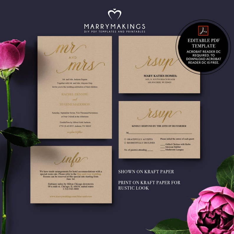 downloadable weddings invitation and rsvp card rsvp card 29 pocket invitations pocketfold invite gold gold invite wedding ceremony