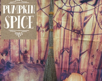 Pumpkin Spice Witches Broom - Birch Twig Broom - Great Smell of Fall!  LIMITED TIME!  Besom Broom, Wiccan Broom,  Please Read Ad for details
