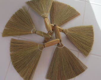 Set of 6 Mini Brooms for Wedding Favors or Craft Projects