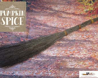Pumpkin Spice Birch Twig Broom - Great Smell of Fall!  LIMITED TIME!  Witches Broom,  Besom Broom, Wiccan Broom,  Please Read Ad for details