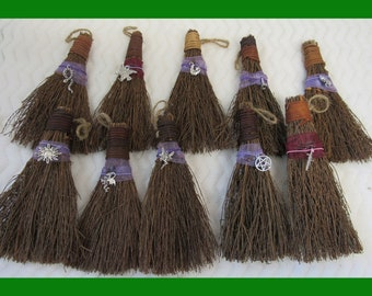 Mini Altar Besom Broom with Charm (Cinnamon Scented)  Witch's Ritual Broom / witches brooms / Yule Broom / Spell Broom / Halloween Broom