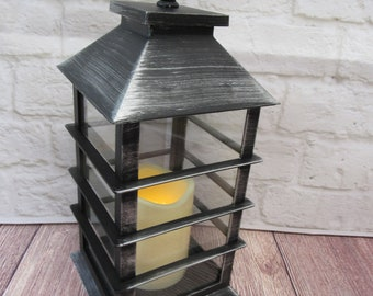 Vintage Lantern for Wedding Decorations (CANDLE INCLUDED) - Rustic Farmhouse Lantern (Please read Ad for Details/Dimensions)  *#105