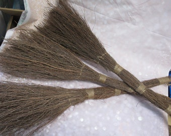 Set of 3 Twig Brooms (Unscented) for Door or Fire Place  Decorations - PLEASE READ AD!! For Details - Twig Broom, Stick Broom, Witches Broom