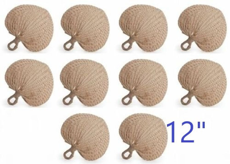 Raffia Fans Large 12  Wedding Fan Palm Leaf Fan image 0