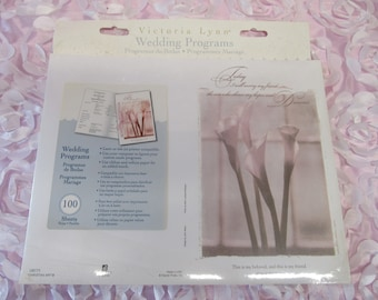 DIY Wedding Program Maker - 100 Sheets - Today I marry my Friend  (**Please read Ad for Details!) Calla Lilly Theme