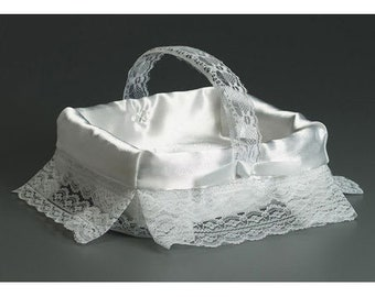 Flower Girl Basket - Perfect for Rose Petals for Your Flower Girl (Please Read ad for Complete Details)