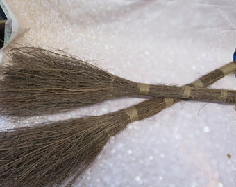 Set of 2 Twig Brooms for Door or Fire Place  Decorations - PLEASE READ AD!!!!! For Details - Twig Broom, Stick Broom, Witches Broom