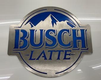 Busch Latte Diamond Plate Sign
