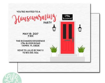 Open house invites etsy housewarming party invitation housewarming invite open house invitation new house invitation 5x7 with reverse side stopboris Choice Image