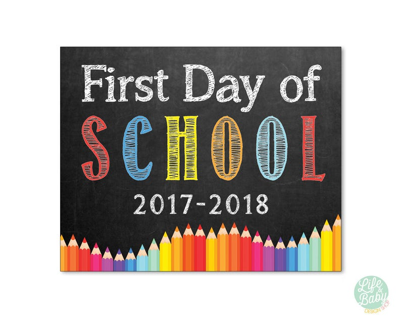 First Day of School Chalkboard Sign  First Day of School image 0