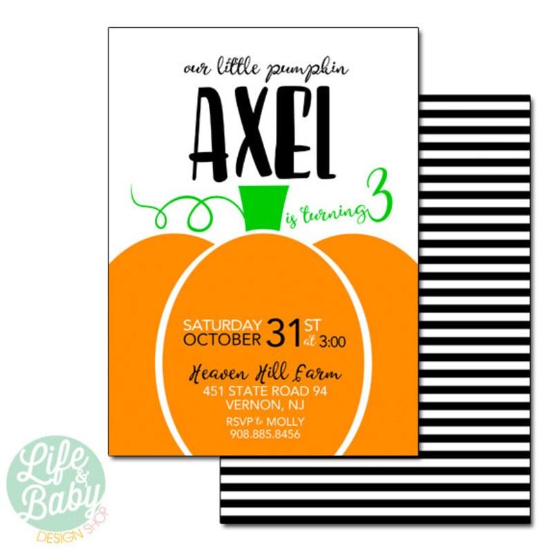 Pumpkin Patch Invitation  Our Little Pumpkin Invitation  Our image 0