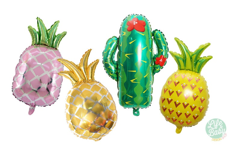 27 Cactus Balloon  Pineapple Ballon  Pink Pineapple image 0