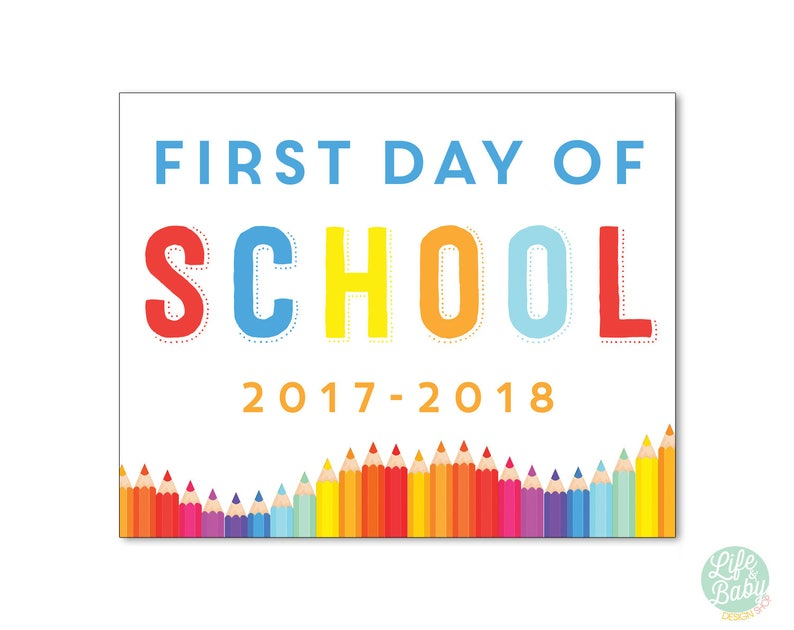 First Day of School Sign  First Day of School Poster image 0