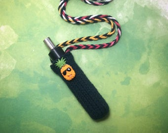 The Funky Fruits Collection knit vaporizer case vape holder dab pen pouch lanyard