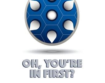 Mario Kart Poster - Spiny Shell Print - Blue Shell Poster - Geek/Nerd Gift - Nintendo Poster - Video Game Poster - Wall Art - Gamer