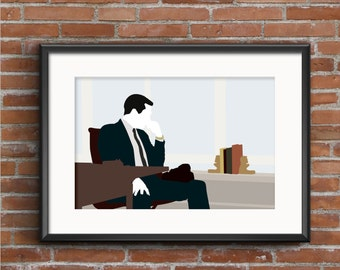 Mad Men Poster - Mad Men Print - Don Draper Poster - Don Draper Print - Jon Hamm Poster - Geek Gift - TV Poster - Mad Men Wall Art Decor & Mad Men Sterling Cooper Draper Pryce Removable Vinyl Wall Art