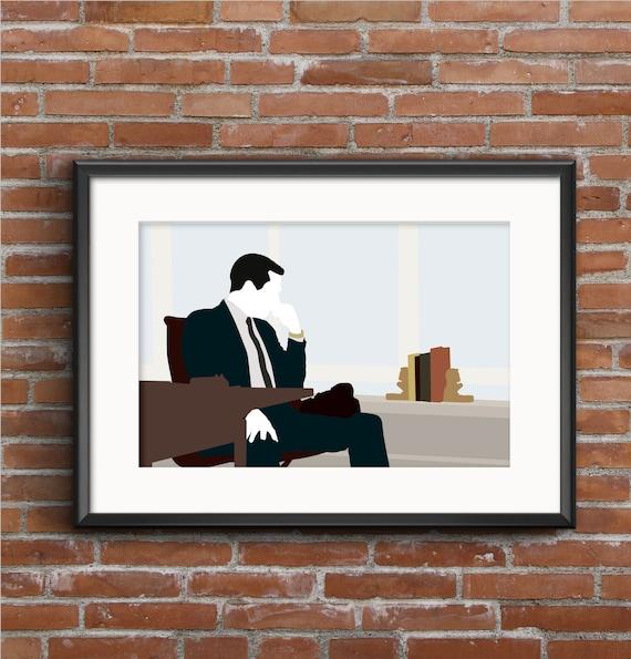 Poster de Mad Men Mad Men imprime Don Draper cartel Don | Etsy