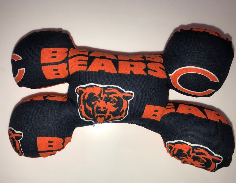 Chicago Bears bone shaped dog squeak toy image 0