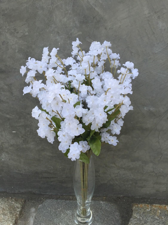 White Babys Breath Silk Flower Bush Artificial Faux Etsy