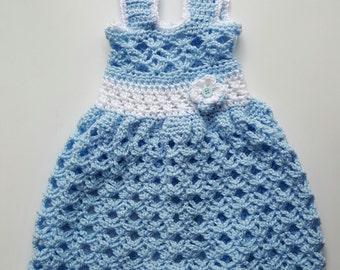 Crochet Baby Dress - Infant Pinafore - Girl Clothing - Infant Clothing - Baby Dress - Crochet dress - Baby sun dress