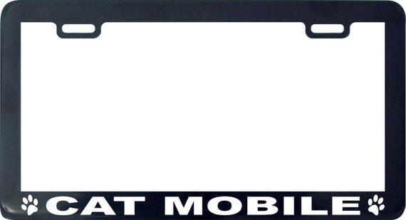 Cat mobile funny license plate frame