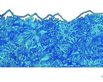 Ice Cave Art Print - Alaskan Glacier Wall Art