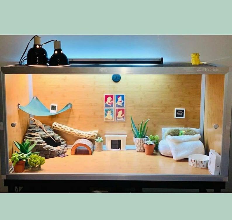 Reptile Art Two Bearded Dragons in Bathtub 3x4 Tank Decor Bubble Bath Terrarium Decor Bath Art Bearded Dragon Art Bath Picture