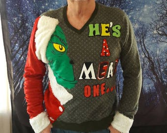 grinch funny classic tacky pretty ugly holiday christmas sweater