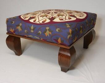 Hand-Crafted StitchWork Ottoman