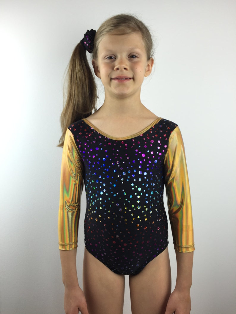 d1dd132a08c0 Gymnastics Leotard Sparkly Leotard Girls Leotard Black