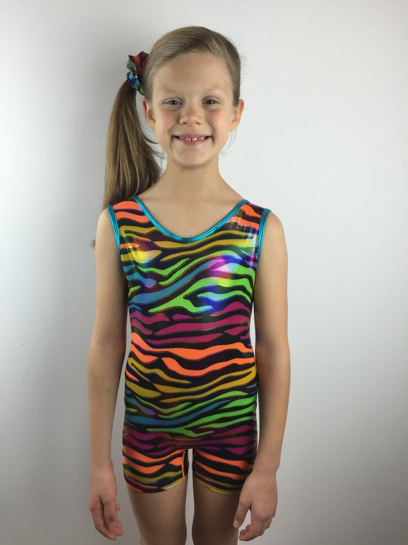 91a4d066796f Biketard Gymnastics Leotard Sparkly Leotard Girls Leotard