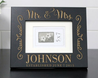 Personalized Picture Frame, Custom Picture Frame, Personalized Photo Frame, Custom Photo Frame, Wedding Gifts, Custom Frame --PF-BL-Johnsons