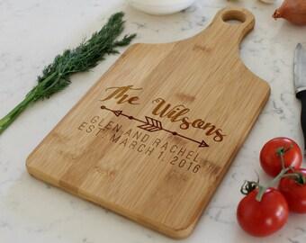 Custom Cheese Board, Custom Paddle Board, Personalized Cheese Board, Engraved Cheese Board, Custom cutting board --CB-PAD- WILSONS