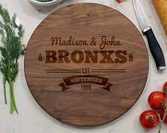 Personalized Round Cutting Board, Custom Round Cutting Board, Engraved Cutting  Board, Cheese Board, Custom Kitchen Board   CBR WAL Bronx