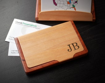 Personalized Business Card Holder, Custom Business Card Holder, Engraved Business Card Holder, Business Card holder --BCH-MR-JB