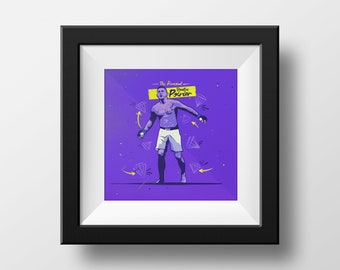 Dustin 'The Diamond' Poirier UFC Art Print Poster