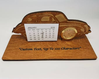 Wooden Desk Calendar Etsy
