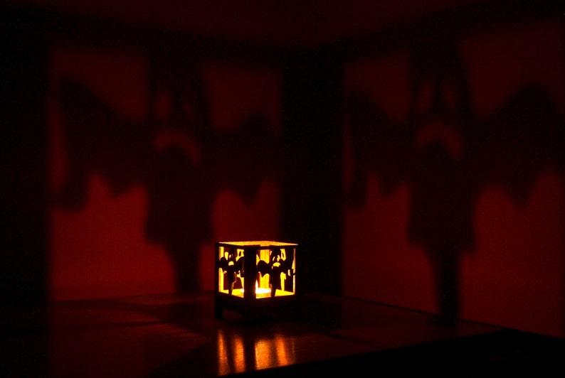 Halloween Basteln Holz.Geist Halloween Kerze Halter Kerzenhalter Holz Halloween Ausschnitt Hölzerne Gespenst Hausgemachten Handwerk Halloween Basteln