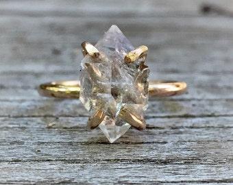 Crystal Wedding Rings | Crystal Engagement Ring Etsy