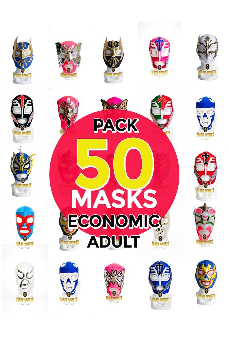 Pack 50 assorted models Adult wrestling masks lucha libre mask