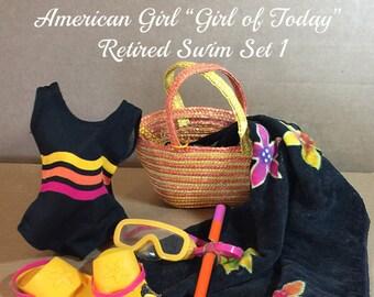 American Girl of TodayRetired Swim Set 1 +  BONUS tote